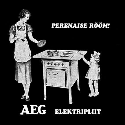 aeg elektripliit vana reklaam / retro perenaine