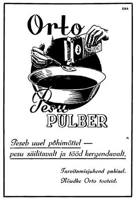 orto pesupulber vana reklaam / retro perenaine